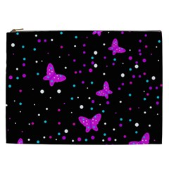 Pink butterflies  Cosmetic Bag (XXL)