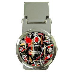 Artistic abstract pattern Money Clip Watches by Valentinaart