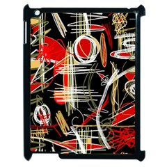 Artistic Abstract Pattern Apple Ipad 2 Case (black) by Valentinaart