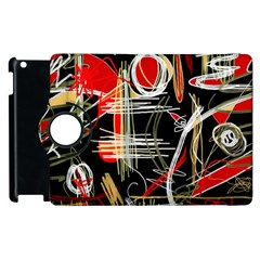 Artistic Abstract Pattern Apple Ipad 2 Flip 360 Case by Valentinaart