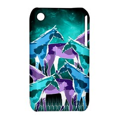 Horses Under A Galaxy Apple Iphone 3g/3gs Hardshell Case (pc+silicone) by DanaeStudio