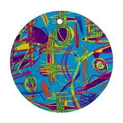 Colorful abstract pattern Ornament (Round)  by Valentinaart