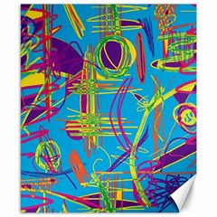Colorful Abstract Pattern Canvas 8  X 10  by Valentinaart