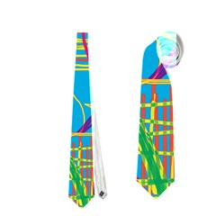 Colorful Abstract Pattern Neckties (two Side)  by Valentinaart