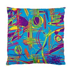 Colorful Abstract Pattern Standard Cushion Case (two Sides) by Valentinaart