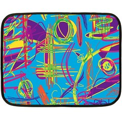 Colorful Abstract Pattern Fleece Blanket (mini) by Valentinaart