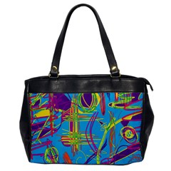 Colorful Abstract Pattern Office Handbags by Valentinaart