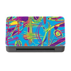 Colorful Abstract Pattern Memory Card Reader With Cf by Valentinaart