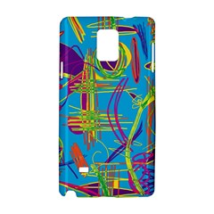 Colorful abstract pattern Samsung Galaxy Note 4 Hardshell Case by Valentinaart