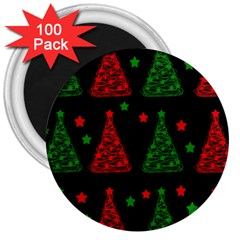 Decorative Christmas trees pattern 3  Magnets (100 pack) by Valentinaart