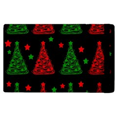 Decorative Christmas Trees Pattern Apple Ipad 2 Flip Case by Valentinaart