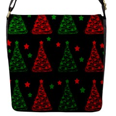 Decorative Christmas Trees Pattern Flap Messenger Bag (s) by Valentinaart