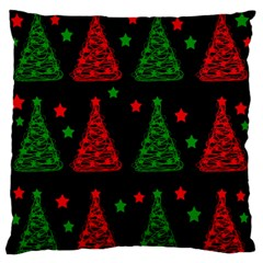 Decorative Christmas Trees Pattern Standard Flano Cushion Case (one Side) by Valentinaart