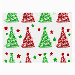 Decorative Christmas Trees Pattern   White Large Glasses Cloth by Valentinaart