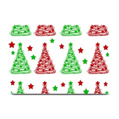 Decorative Christmas Trees Pattern   White Plate Mats by Valentinaart