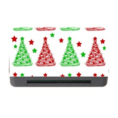Decorative Christmas Trees Pattern   White Memory Card Reader With Cf by Valentinaart