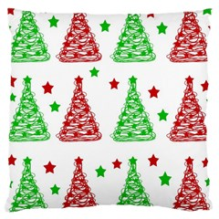 Decorative Christmas Trees Pattern   White Large Cushion Case (one Side) by Valentinaart