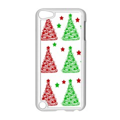 Decorative Christmas Trees Pattern   White Apple Ipod Touch 5 Case (white) by Valentinaart