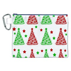 Decorative Christmas Trees Pattern   White Canvas Cosmetic Bag (xxl) by Valentinaart