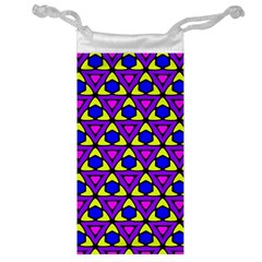 Triangles And Honeycombs Pattern                                                                                                   Jewelry Bag by LalyLauraFLM