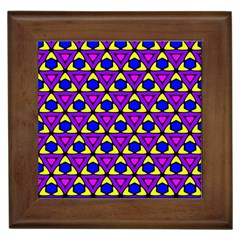Triangles And Honeycombs Pattern                                                                                                   			framed Tile by LalyLauraFLM