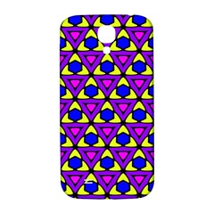 Triangles And Honeycombs Pattern                                                                                                  			samsung Galaxy S4 I9500/i9505 Hardshell Back Case by LalyLauraFLM