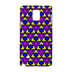 Triangles And Honeycombs Pattern                                                                                                  			samsung Galaxy Note 4 Hardshell Case by LalyLauraFLM
