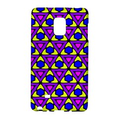 Triangles And Honeycombs Pattern                                                                                                  samsung Galaxy Note Edge Hardshell Case by LalyLauraFLM