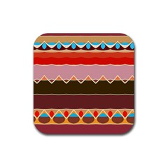 Waves And Other Shapes                                                                                                    			rubber Square Coaster (4 Pack by LalyLauraFLM