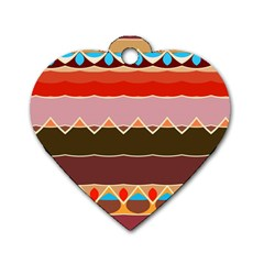 Waves And Other Shapes                                                                                                    dog Tag Heart (one Side) by LalyLauraFLM