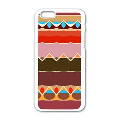 Waves And Other Shapes                                                                                                   apple Iphone 6/6s White Enamel Case by LalyLauraFLM