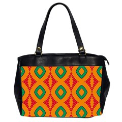 Rhombus And Other Shapes Pattern                                                                                                     Oversize Office Handbag (2 Sides)