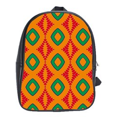 Rhombus and other shapes pattern                                                                                                     			School Bag (Large) by LalyLauraFLM