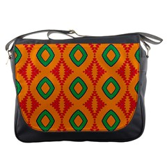 Rhombus And Other Shapes Pattern                                                                                                     messenger Bag by LalyLauraFLM