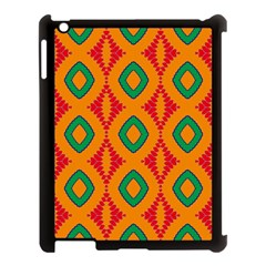 Rhombus And Other Shapes Pattern                                                                                                    apple Ipad 3/4 Case (black) by LalyLauraFLM