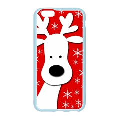 Christmas reindeer - red Apple Seamless iPhone 6/6S Case (Color) by Valentinaart