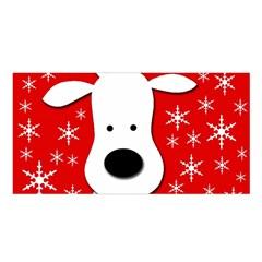 Christmas Reindeer   Red Satin Shawl by Valentinaart