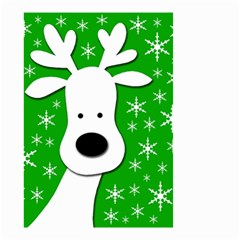 Christmas Reindeer   Green Small Garden Flag (two Sides) by Valentinaart