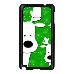 Christmas Reindeer   Green 2 Samsung Galaxy Note 3 N9005 Case (black) by Valentinaart