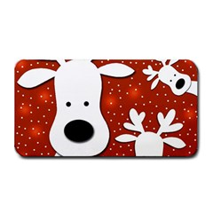 Christmas Reindeer   Red 2 Medium Bar Mats by Valentinaart