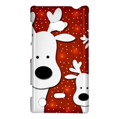 Christmas Reindeer   Red 2 Nokia Lumia 720 by Valentinaart