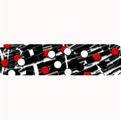 Red And White Dots Large Bar Mats by Valentinaart