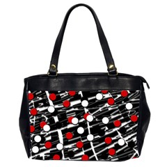 Red And White Dots Office Handbags (2 Sides)