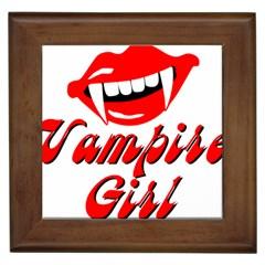 Vampire Girl Framed Tiles by igorsin