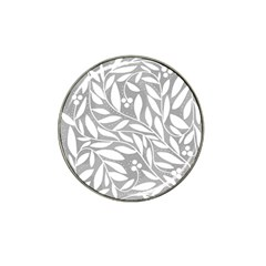 Gray And White Floral Pattern Hat Clip Ball Marker (4 Pack) by Valentinaart