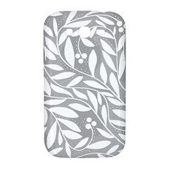 Gray and white floral pattern Samsung Galaxy Grand DUOS I9082 Hardshell Case by Valentinaart