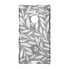 Gray And White Floral Pattern Nokia Lumia 1520 by Valentinaart