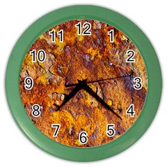 Rusted Metal Surface Color Wall Clocks by igorsin