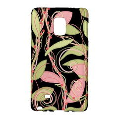 Pink And Ocher Ivy Galaxy Note Edge by Valentinaart