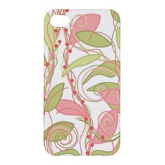 Pink And Ocher Ivy 2 Apple Iphone 4/4s Premium Hardshell Case by Valentinaart
